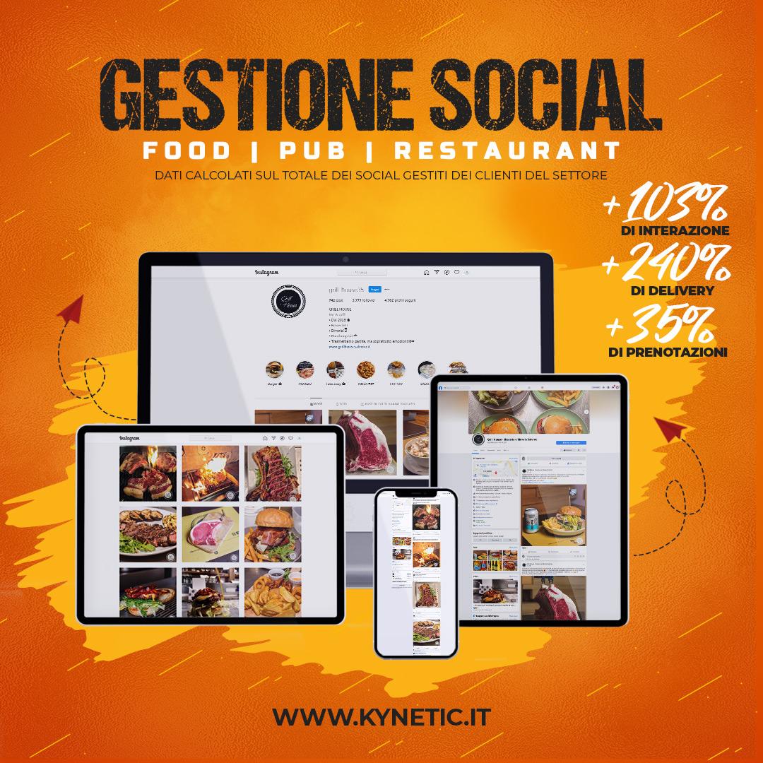 Gestione professionale social network con scrittura di post - Kynetic social media agency salerno